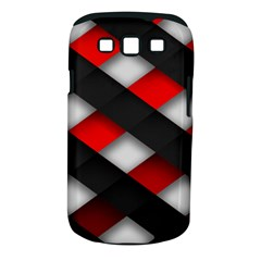 Red Textured Samsung Galaxy S Iii Classic Hardshell Case (pc+silicone)