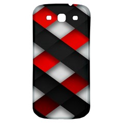 Red Textured Samsung Galaxy S3 S Iii Classic Hardshell Back Case