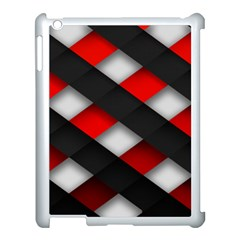 Red Textured Apple Ipad 3/4 Case (white)