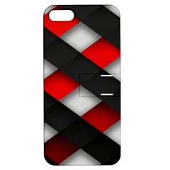 Red Textured Apple Iphone 5 Hardshell Case With Stand