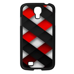 Red Textured Samsung Galaxy S4 I9500/ I9505 Case (Black)
