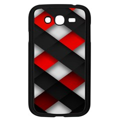 Red Textured Samsung Galaxy Grand Duos I9082 Case (black)