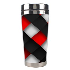 Red Textured Stainless Steel Travel Tumblers