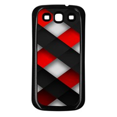 Red Textured Samsung Galaxy S3 Back Case (black)