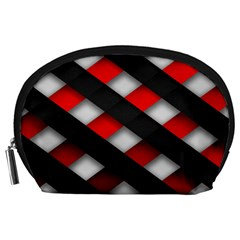 Red Textured Accessory Pouches (large)