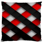 Red Textured Standard Flano Cushion Case (One Side) Front