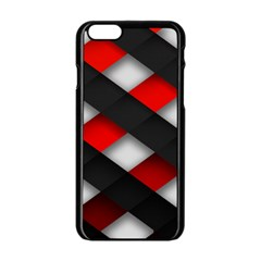 Red Textured Apple Iphone 6/6s Black Enamel Case