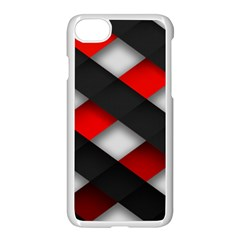 Red Textured Apple Iphone 7 Seamless Case (white)