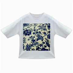 Vintage Blue Drawings On Fabric Infant/toddler T Shirts