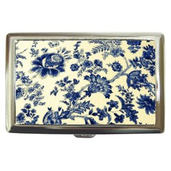 Vintage Blue Drawings On Fabric Cigarette Money Cases