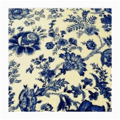 Vintage Blue Drawings On Fabric Medium Glasses Cloth