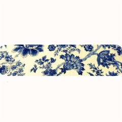 Vintage Blue Drawings On Fabric Large Bar Mats