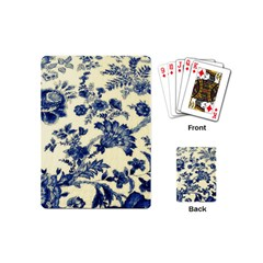 Vintage Blue Drawings On Fabric Playing Cards (mini)