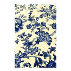Vintage Blue Drawings On Fabric Shower Curtain 48  X 72  (small)