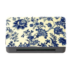 Vintage Blue Drawings On Fabric Memory Card Reader With Cf