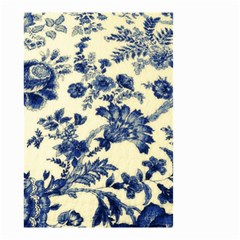 Vintage Blue Drawings On Fabric Small Garden Flag (two Sides)