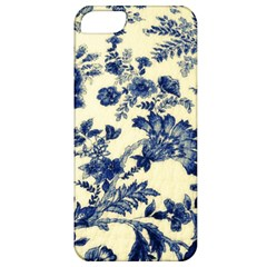 Vintage Blue Drawings On Fabric Apple Iphone 5 Classic Hardshell Case