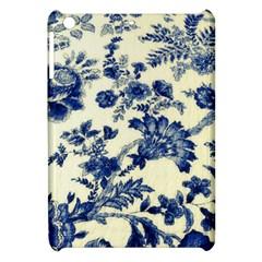 Vintage Blue Drawings On Fabric Apple Ipad Mini Hardshell Case