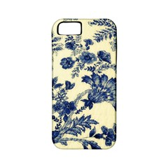 Vintage Blue Drawings On Fabric Apple Iphone 5 Classic Hardshell Case (pc+silicone)