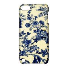 Vintage Blue Drawings On Fabric Apple Ipod Touch 5 Hardshell Case With Stand