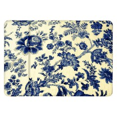 Vintage Blue Drawings On Fabric Samsung Galaxy Tab 8 9  P7300 Flip Case