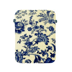 Vintage Blue Drawings On Fabric Apple Ipad 2/3/4 Protective Soft Cases
