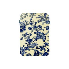 Vintage Blue Drawings On Fabric Apple Ipad Mini Protective Soft Cases