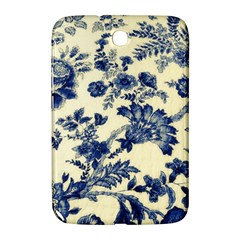 Vintage Blue Drawings On Fabric Samsung Galaxy Note 8 0 N5100 Hardshell Case