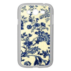 Vintage Blue Drawings On Fabric Samsung Galaxy Grand Duos I9082 Case (white)