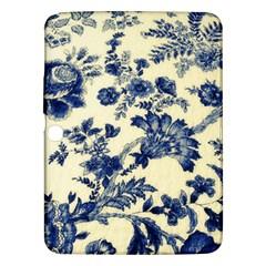 Vintage Blue Drawings On Fabric Samsung Galaxy Tab 3 (10 1 ) P5200 Hardshell Case