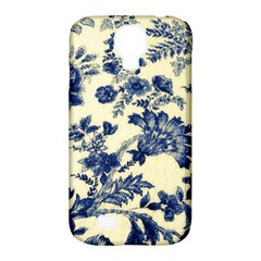 Vintage Blue Drawings On Fabric Samsung Galaxy S4 Classic Hardshell Case (pc+silicone)