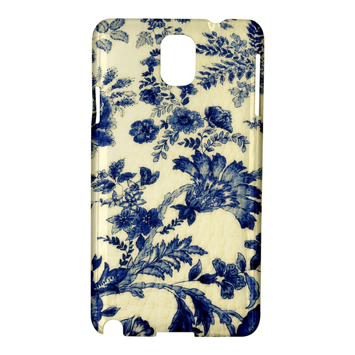 Vintage Blue Drawings On Fabric Samsung Galaxy Note 3 N9005 Hardshell Case