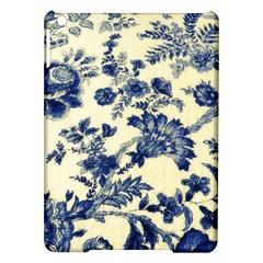 Vintage Blue Drawings On Fabric Ipad Air Hardshell Cases