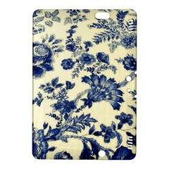 Vintage Blue Drawings On Fabric Kindle Fire Hdx 8 9  Hardshell Case