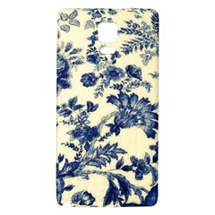 Vintage Blue Drawings On Fabric Galaxy Note 4 Back Case