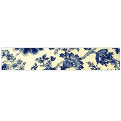 Vintage Blue Drawings On Fabric Flano Scarf (large)