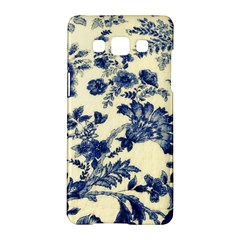 Vintage Blue Drawings On Fabric Samsung Galaxy A5 Hardshell Case
