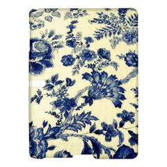 Vintage Blue Drawings On Fabric Samsung Galaxy Tab S (10 5 ) Hardshell Case