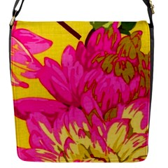 Beautiful Pink Flowers Flap Messenger Bag (s)
