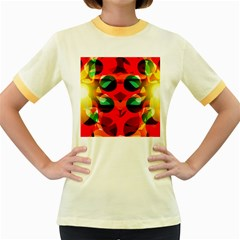 Abstract Digital Design Women s Fitted Ringer T Shirts