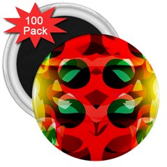 Abstract Digital Design 3  Magnets (100 Pack)