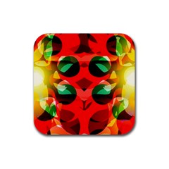 Abstract Digital Design Rubber Square Coaster (4 Pack)