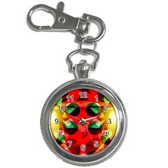 Abstract Digital Design Key Chain Watches