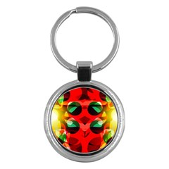 Abstract Digital Design Key Chains (round)