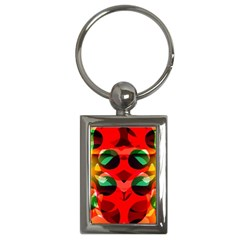 Abstract Digital Design Key Chains (rectangle)