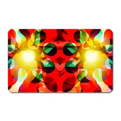 Abstract Digital Design Magnet (rectangular)