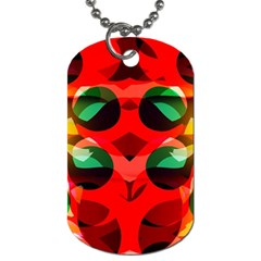 Abstract Digital Design Dog Tag (one Side)