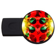 Abstract Digital Design Usb Flash Drive Round (2 Gb)