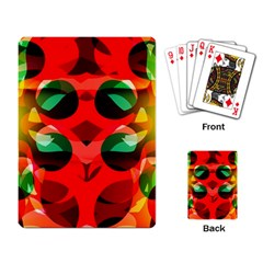 Abstract Digital Design Playing Card
