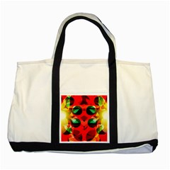 Abstract Digital Design Two Tone Tote Bag
